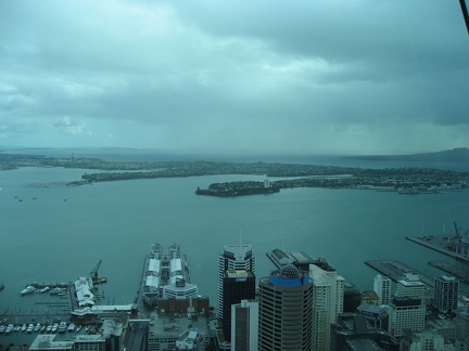 Waitemata harbour view from the Sky Tower