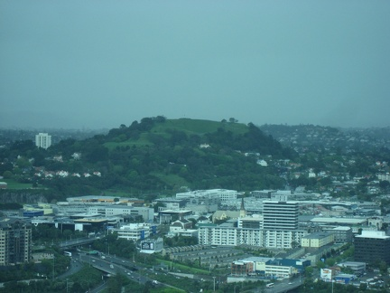 Mt Eden, Maungawhau, view from the Sky Tower